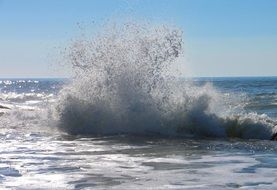 ocean spray on the atlantic coast