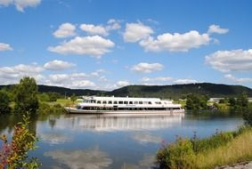 cruise boat on the river danube