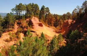 red ochre Roussillon