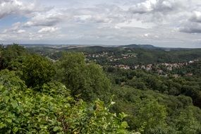 panorama view on Thuringia Germany