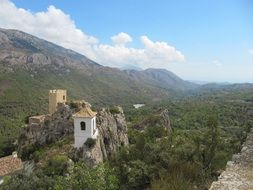 mountain castle top view in spain