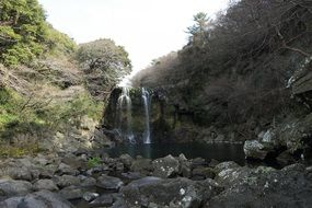 waterfall on Jeju island