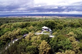 panoramic view from the observation tower in germany