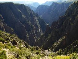 panorama of a picturesque canyon in a national park in colorado