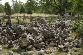 human-made pile of stones