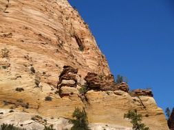 mountain erosion in the zion national park
