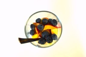 fruit salad with blueberries