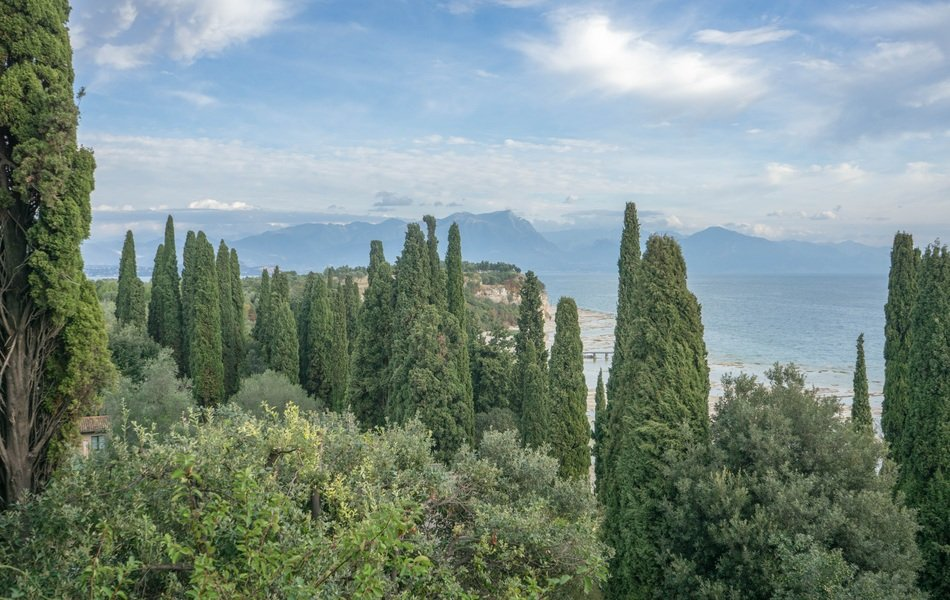 view on the lake garda in Italy