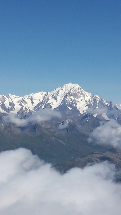 Mont Blanc top Alps of France