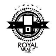 Vector royal quality music label