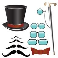 Mustaches and retro accessories N2