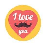 "Vector Flat Trendy Hipster ""I Love You"" Illustration Concept"