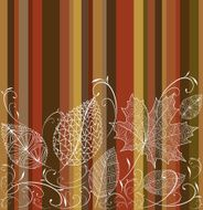 Vintage transparent autumn tree leaves seamless pattern background