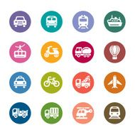 Transportation Color Icons