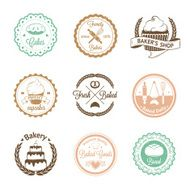 Vintage bakery badges labels and logos N6