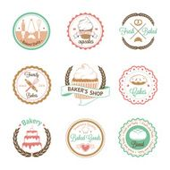 Vintage bakery badges labels and logos N7