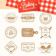 Vintage bakery badges labels and logos N8