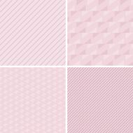 Set of vector seamless retro patterns