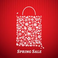 Shopping bag for Spring Sale