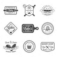 Vintage bakery badges labels and logos N9