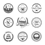 Vintage bakery badges labels and logos N10