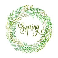 Hand drawn spring wreath Vector illustration N2