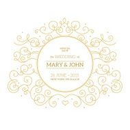 Elegant ornamental wedding invitation Vector illustration