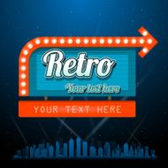 Retro motel sign with copyspace N2
