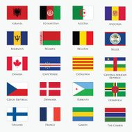 Vector set of flags N2