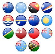 Round Flag Icon Collection - Australia and Oceania