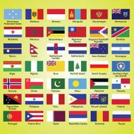 Flags of the world collection listed alphabetically icon