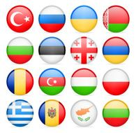 Round Flag Icon Collection - East and Southern Europe