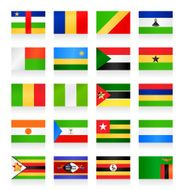 Flag collection - Africa