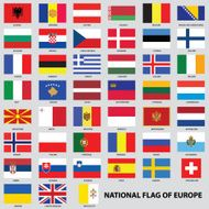 National flags of Europe