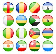 Round Flag Icon Collection - Africa N2