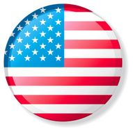 Flag Lapel Button - United States of America