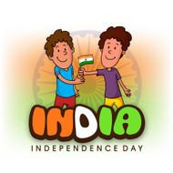 Cute Kids celebrating Indian Independence Day N2