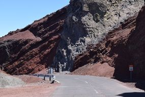 mountain road on the sunny canary islands
