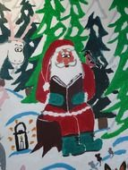 santa claus advent drawing