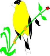 graphic image of a bright yellow bird