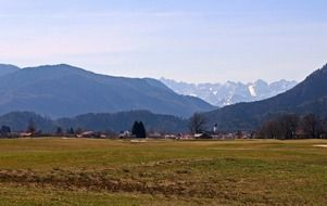 chiemgau mountains tranquil landscape