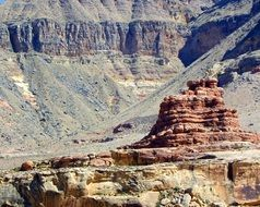 unusual scenic landscape of the Grand Canyon