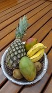 natural exotic fruits in a bowl