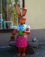 easter bunny decoration on a street