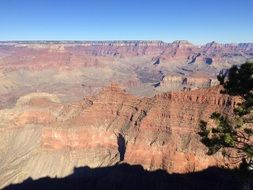 a picturesque rocky landscape of the Grand Canyon