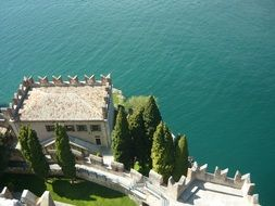 wonderful landscape of lake garda