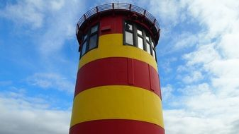 East Frisia north sea lighthouse