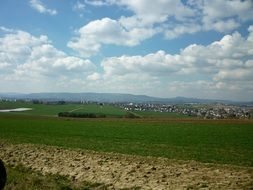 panoramic view of arable fields in Hesse