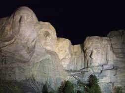 Mount Rushmore National Memorial is centered around a sculpture carved into the granite face