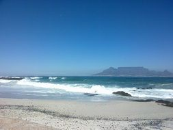 empty beach in Cape Town